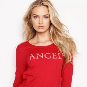 Victoria's Secret long sleeve ANGEL sleep top